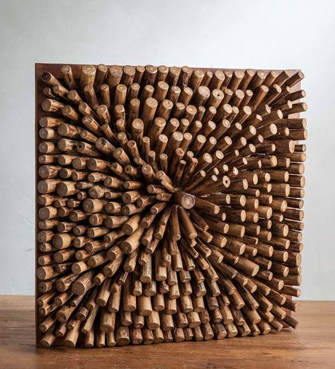 Artisans in Indonesia handcraft each of these unique and nature-inspired wall are pieces. They cut, shape, and place each teak wood segment to create a one-of-a-kind pattern with depth and movement. These pieces add a high-end and all-natural style to your walls in any room. Plus, they fit any décor style from coastal to rustic. Perhaps the best part is the responsible sourcing of the teak wood, which makes them not only unique, but also sustainable. V2933