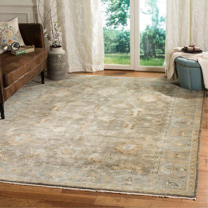 Safavieh Oushak Hand Knotted Wool Ivory Area Rug Perigold Oriental Wool Rugs Exquisite Rugs Blue Area Rugs