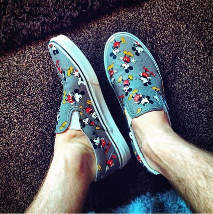 Disney Vans classic slip ons are perfect for no sock summer
