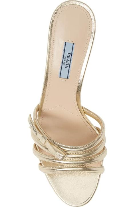 ff91c57092f Prada Metallic Slide Sandal (Women)