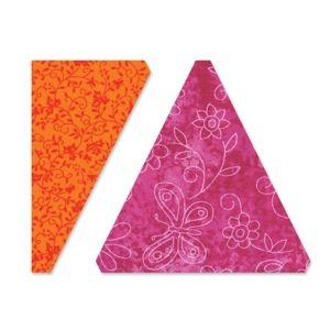 "Triangles Isosceles /& Right 3 1//2/"" H Assembled Quilting Sizzix Bigz L Die"