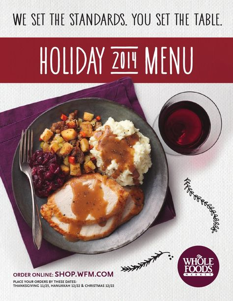 Whole Foods Market - Holiday Menu 2014 | Menu