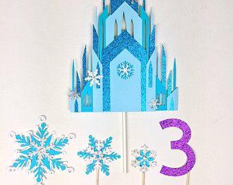 Frozen Centerpiece Printable For Frozen Birthday Diy Etsy Wedding Cake Topper Etsy Castle Wedding Cake Wedding Cake Toppers