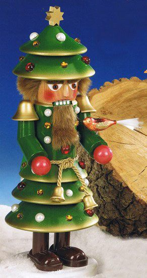 German Erzgebirge Nutcrackers Steinbach Nutrackers Christmas Tree Nutcracker by Steinbach