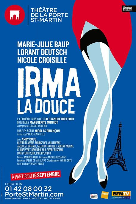 If you'd like to enjoy a french musical, don't hesitate to go and see Irma La Douce, including english subtitles. The Paris atmosphere is great: you'll be carried into Montmartre during the 50's! http://www.portestmartin.com/spectacle/piece/irma-la-douce