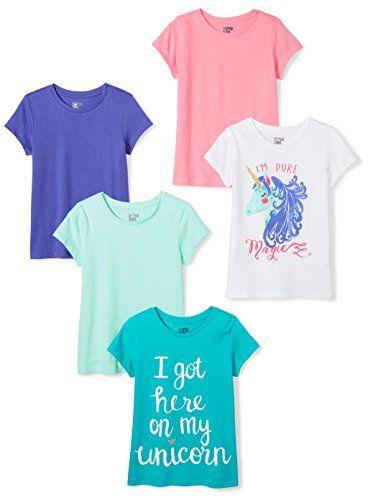 Spotted Zebra Girls Toddler /& Kids 5-Pack Long-Sleeve T-Shirts Brand