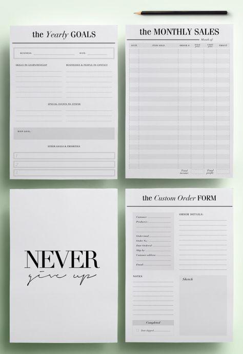 free organization printables for work
