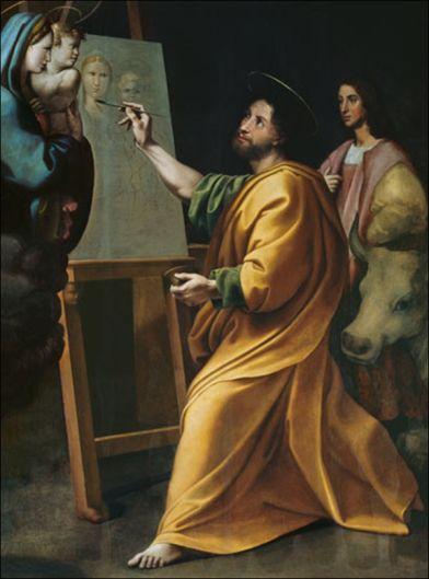 raphael-st-luke-painting-the-virgin | Raphael paintings, Saint luke,  Painting