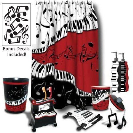 Superior Amazon.com: Juleez Jazzy Music / Musical Notes / Piano Bathroom Décor Plus  Bonus Decals, 7pc Set: Home U0026 Kitchen | Scouts | Pinterest | Interiors, ...