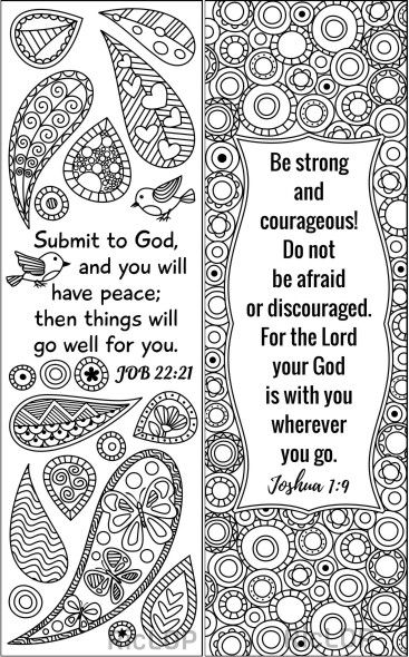 8 Bible Coloring Bookmarks Set 2 Bible Coloring Pages Cute