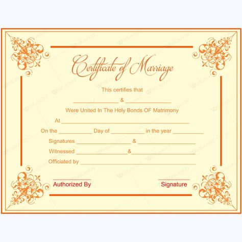 Certificate Of Marriage #marriage #certificate #template - marriage certificate template