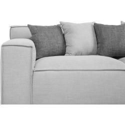 3 Sitzer Sofa Polsterbezug Hellgrau Viskan Beliani In 2020 3 Sitzer Sofa Sofa Und Modernes Sofa