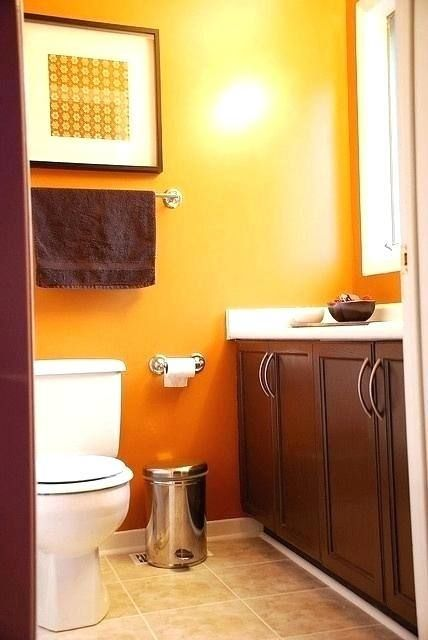 Bathroom Ideas Orange With Images Orange Bathroom Decor
