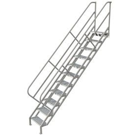 Ladders Stairways Stairs 11 Step Industrial Access Stairway Ladder Perforated Wiss111246 B593637 Globalindustrial Com Steel Stairs Stairs Ladder