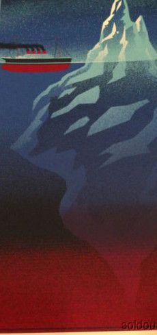 Iceberg Right Ahead - Tim Anderson 2013 Titanic poster print Art Movie boat ship - Default Title