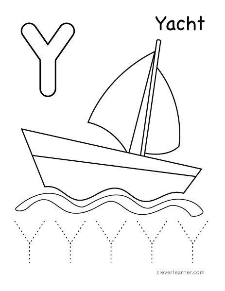 Y Is For Yacht Worksheet For Kids Letter Y Worksheets Letter Activities Preschool Letter Y Crafts Free printable letter y worksheets