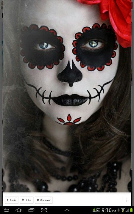10 best Halloween images on Pinterest Make up looks, Artistic make - face makeup ideas for halloween