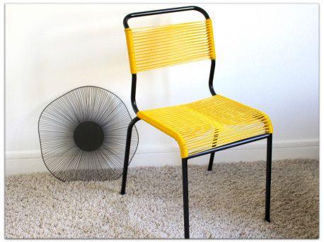 Chaise Scoubidou Vintage Chaise Scoubidou Scoubidou Chaise