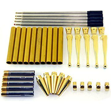 Woodturning Pen Kits x 5 European,choice of colours