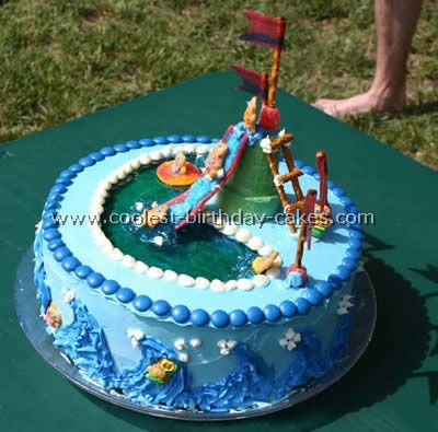 Swimming Pool Cake. Learn How To Decorate A Swimming Pool Cake With Tiny  Teddies Floating Around. Http://www.ifood.tv/video/tiny Teddy Swimming Poou2026