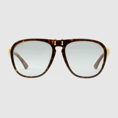 1744fd7d40f GUCCI Round-Frame Acetate Sunglasses - Dark Tortoiseshell Acetate.  gucci   all