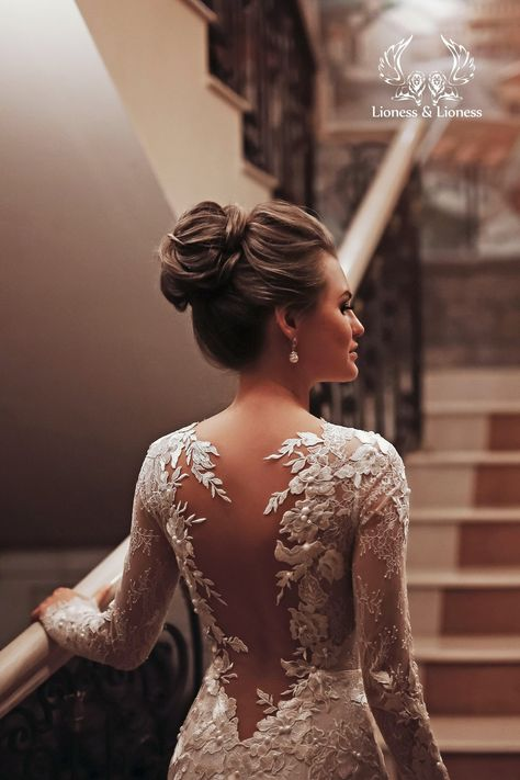 Long Sleeve Wedding, Long Wedding Dresses, Bridal Dresses, Open Back Wedding Dress, Lace Sleeve Wedding Dress, Illusion Neckline Wedding Dress, Modern Bridesmaid Dresses, White Lace Wedding Dress, Lace Bride