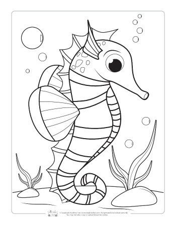 Ocean Animals Coloring Pages For Kids Itsybitsyfun Com Animal Coloring Pages Ocean Coloring Pages Fish Coloring Page
