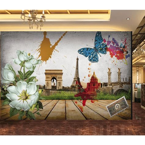 3D Wallpaper White Flower Butterfly 105 Wallpaper Mural Wall Mural Wall Murals Removable Wallpaper