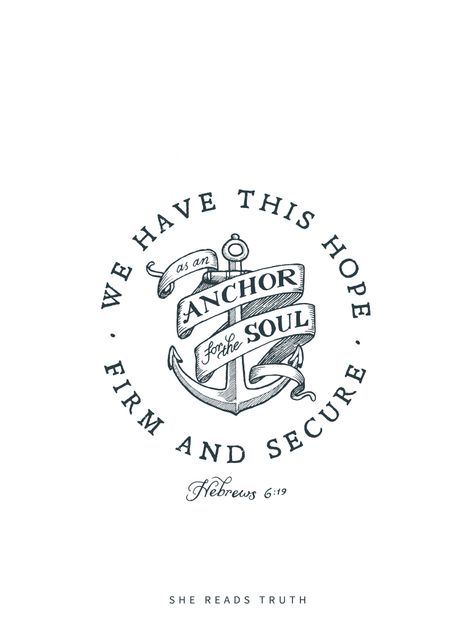 Hebrews 6:19...possible tattoo? The anchor, not the words around it.