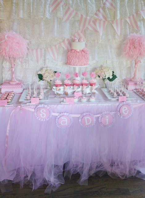 Pretty In Pink Baby Shower Love The Tablecloth Must Do This Sometime Website