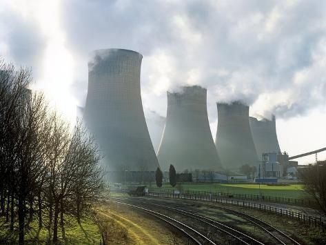 Power Station Cooling Towers Photographic Print By Martin Bond