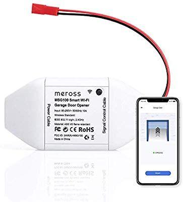 Meross Smart Wi Fi Garage Door Opener Remote App Control Compatible With Alexa Google Assistant And Ifttt In 2020 Garage Door Opener Remote App Control Garage Doors