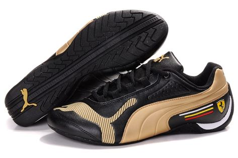 691ddc8cd07d73 Men Puma Future Cat Low 829 - Black Golden in 2019