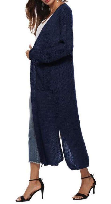 UUYUK Men V-Neck Slim Fit Solid Pullover Jumper Long Sleeve Knit Sweater