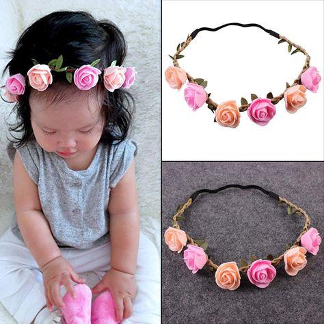 Kleidung, Schuhe & Accessoires UK Newborn Baby Girls Rose Flower Headband Infant Toddler Hair Band Accessories Accessoires
