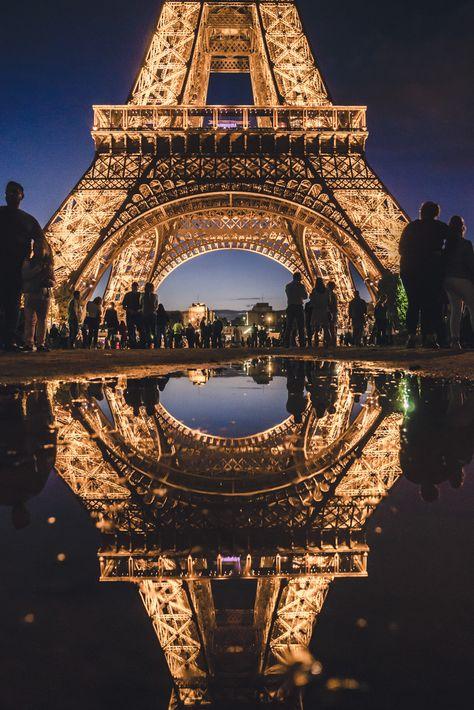 Paris eiffel tower Eiffel Tower wasn't designed by Gustave Eiffel, Paris, France #travel #paris #france