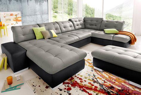 Wohnlandschaft Wahlweise In Xl Oder Xxl Wohnen Sofa Mit Bettfunktion Moderne Couch