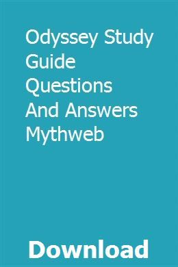 Odyssey Study Guide Questions And Answers Mythweb With Images