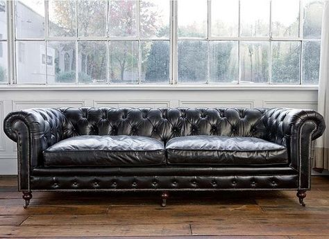 Rochester 3 Seat Aged Leather Chesterfield Sofa Black Vintage Industria Vintage Leather Sofa Vintage Chesterfield Sofa Vintage Sofa