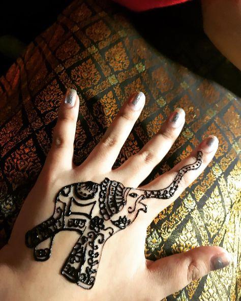 Henna Tattoo In Bangkok: Thank You @kanokon_katie For The Beautiful #hennatattoo