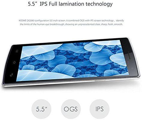 "Doogee DG580 - Smartphone libre Android (pantalla 5.5"", cámara 8 Mp, 8 GB, Quad-Core 1.4 GHz, 1 GB RAM), blanco"