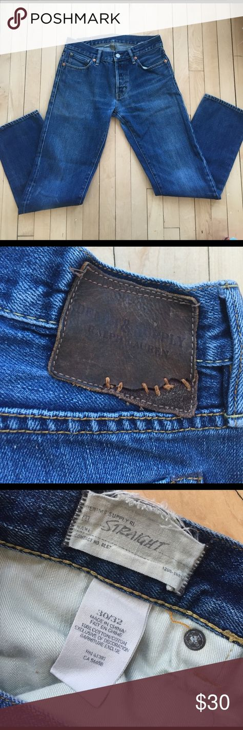 Men's Denim & Supply Ralph Lauren jeans 30/32 Straight leg, button fly.  Size 30/32. Denim & Supply Ralph Lauren Jeans Straight