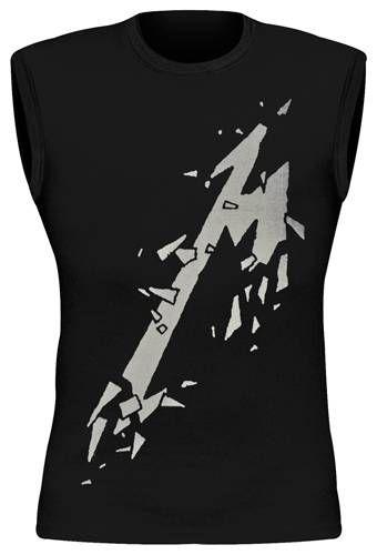 Metallica-Smashed M sans manches T Shirt