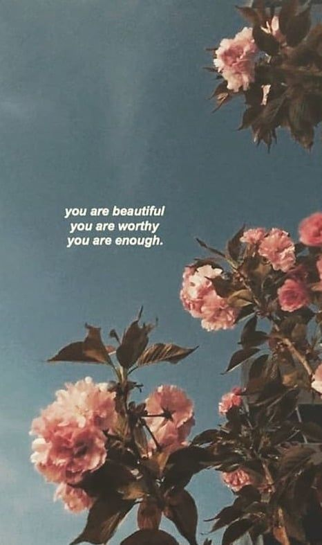 You Are Beautiful You Are Worthy You Are Enough Quote Aesthetic Quote Backgrounds Phone Wallpaper Quotes