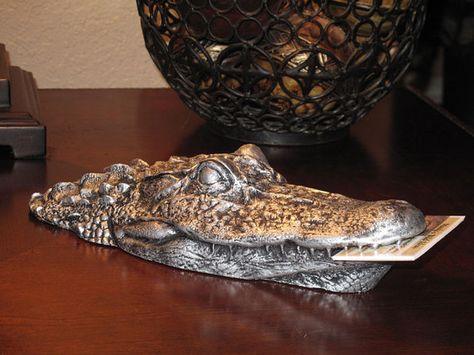 Gator Head Business Card Holder