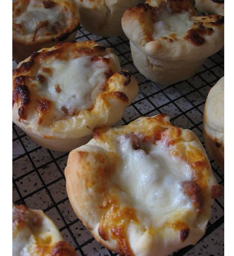 Bet they can't just eat one! These scrumptious mini deep-dish pizzas are tasty as prepared but can also be made with fresh vegetables for a more nutritious lunch or snack!
