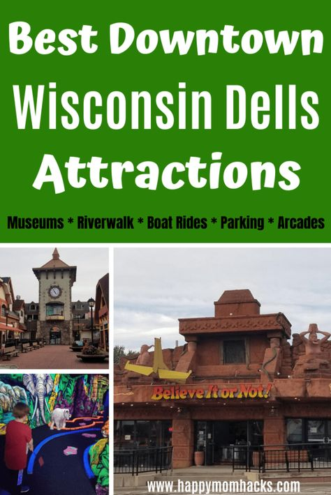 Best Attractions in Wisconsin Dells Downtown with Kids. Fun things to do from museums, to arcades, restaurants, Ripley's Believe It Or Not , Duck Boat Rides and more. Tips & everything you need to know before you go.