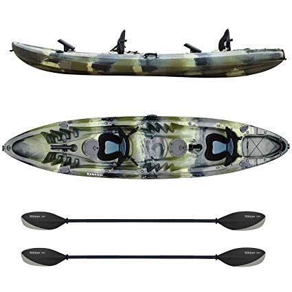Elkton Outdoors Tandem Kayak 12 Foot Sit On Top Fishing Kayak