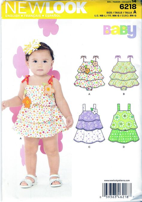 b95ad3c556a7 New Look 6218 Babies Dress Four Sizes in One