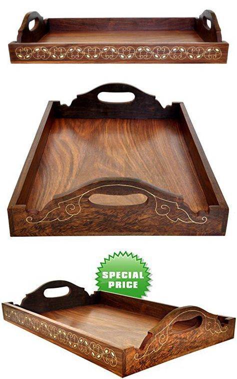 Decorative Ottoman Tray Inspiration Today's Deals  100% Guarantee Wooden Trays With Handles Design Inspiration